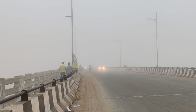 Fog engulfed several parts of Cuttack on Monday morning