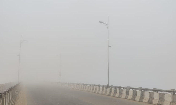 Dense fog covered several parts of Cuttack and Bhubaneswar
