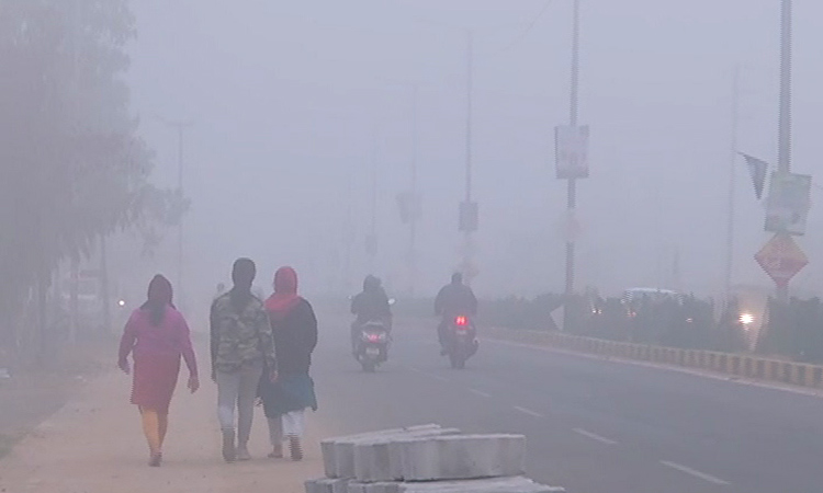 Fog engulfed several parts of Balasore on Monday morning
