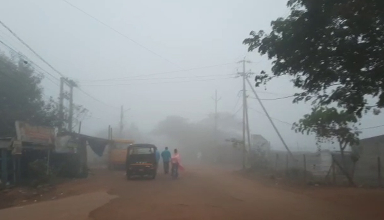 Dense fog covered several parts of Odisha
