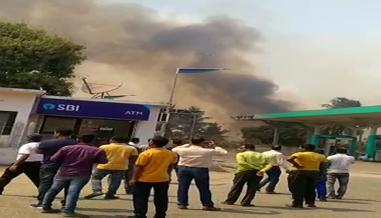Major Tragedy Averted After Fire Breaks Out Near Petrol Pump In Cuttack