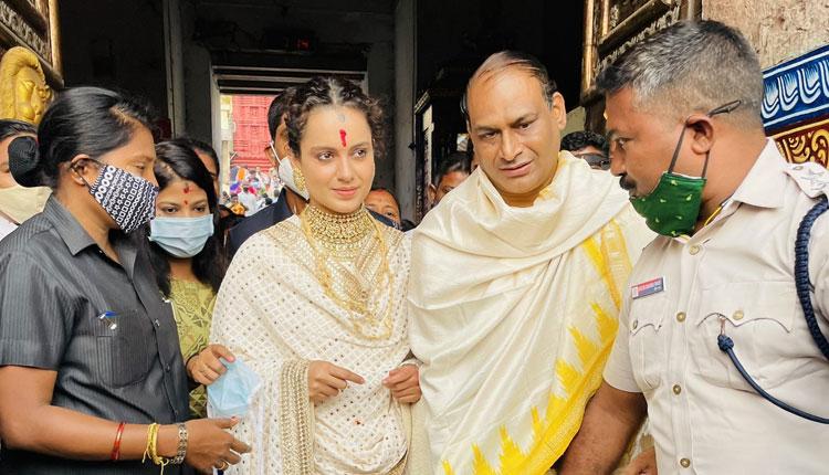 Kangana Ranaut visits Lord Jagannath Temple in Puri