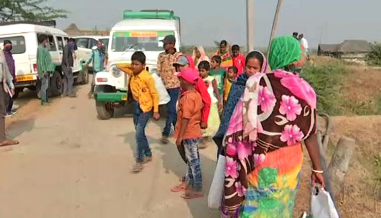 People of three villages being shifted to temporary shelter homes ahead of nuclear missile test at Chandipur in Balasore